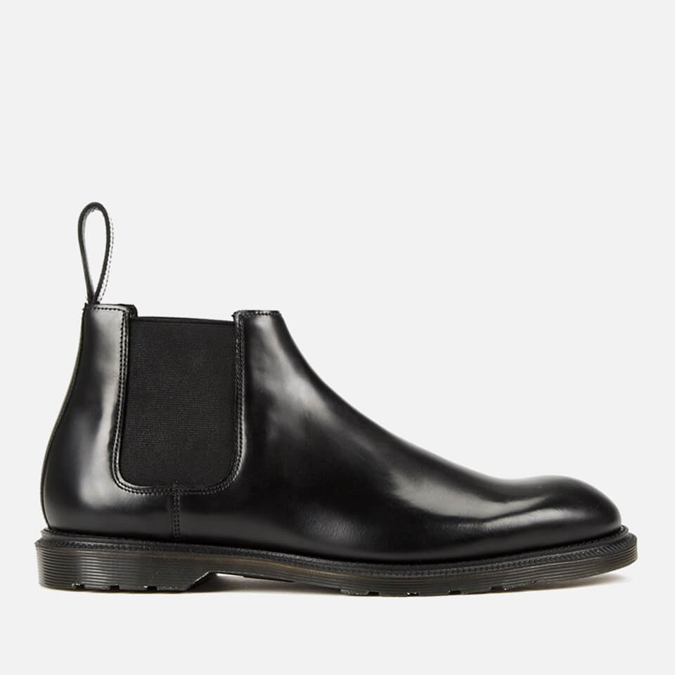 dr martens men 39 s henley wilde polished smooth leather low chelsea boots black free uk. Black Bedroom Furniture Sets. Home Design Ideas