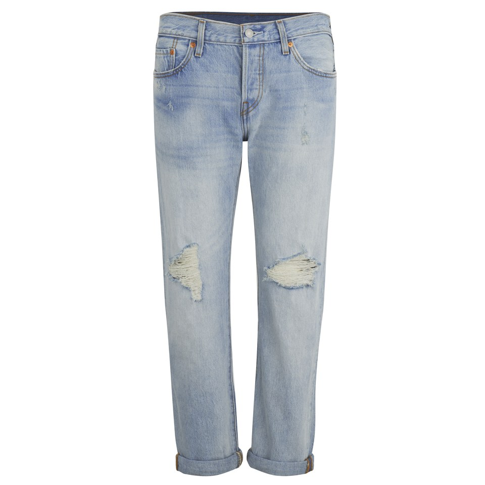 Levi's Women's 501 Mid Waist Ripped Jeans - Old Favorite - Free UK Delivery  over £50 - Levi's Women's 501 Mid Waist Ripped Jeans - Old Favorite - Free UK