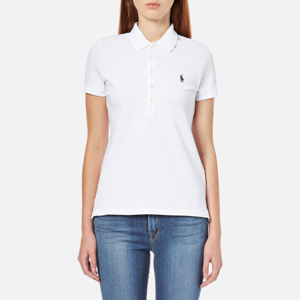Polo ralph lauren women 39 s julie polo shirt white free for Woman s polo shirts