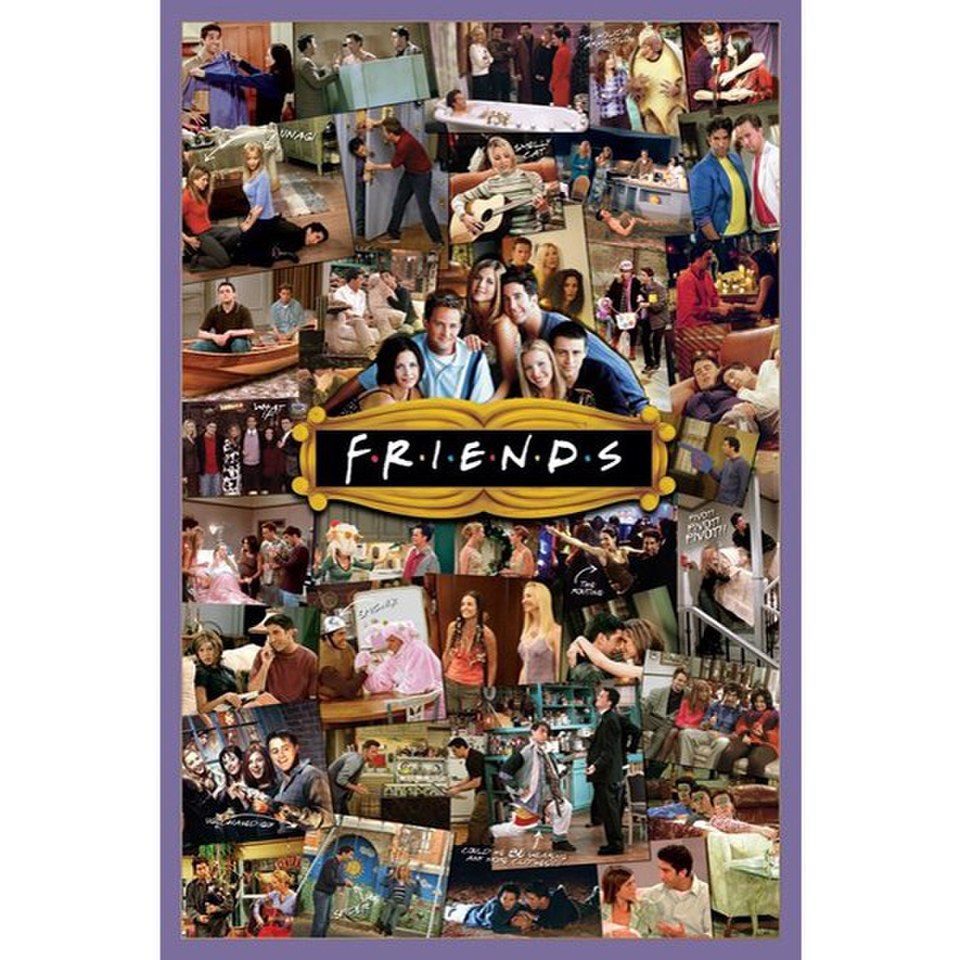 Friends montage 24 x 36 inches maxi poster my geek box - Poster adhesif sur mesure ...