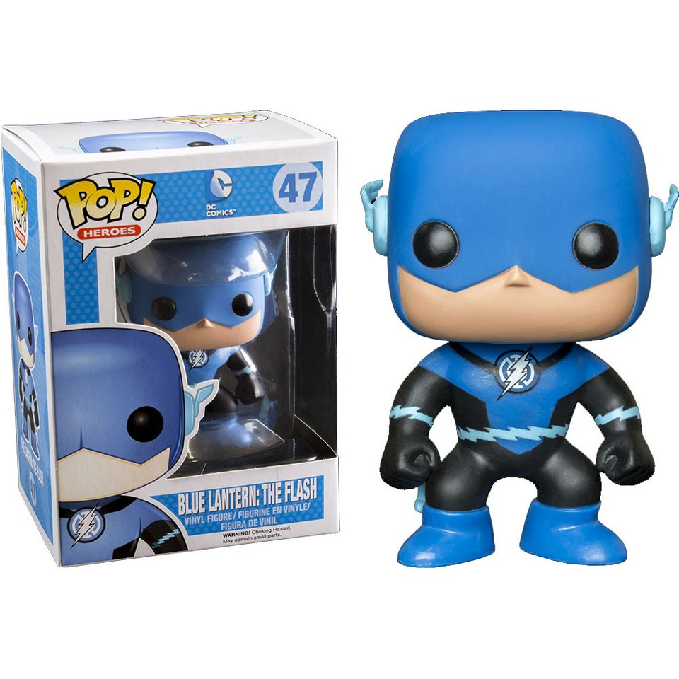 Dc Comics Blue Lantern Flash Exclusive Pop Vinyl Figure