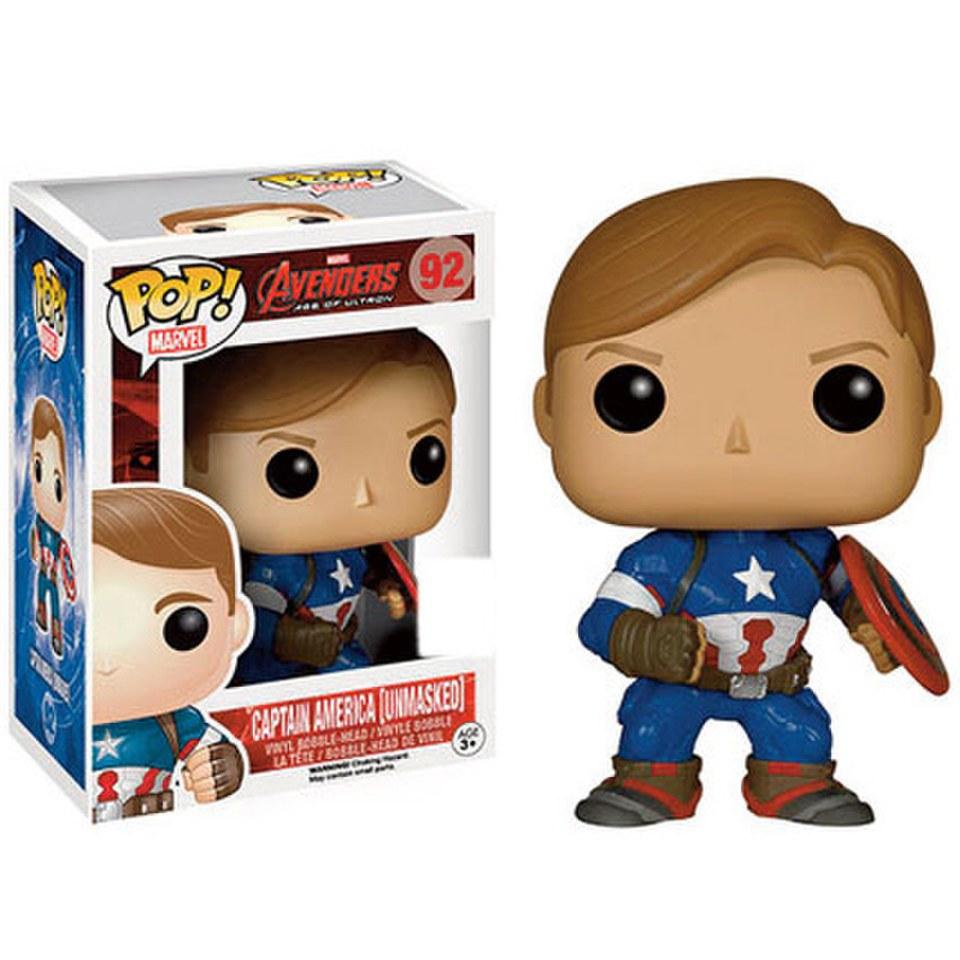Hiei Us Exclusive Pop Vinyl: Marvel Avengers Age Of Ultron Unmasked Captain America