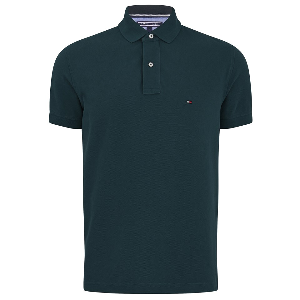 tommy hilfiger men 39 s slim fit polo shirt dark green mens clothing. Black Bedroom Furniture Sets. Home Design Ideas
