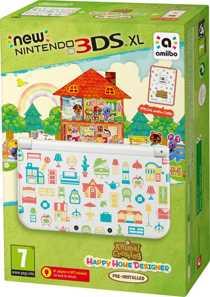 New Nintendo 3DS XL - Includes Animal Crossing: Happy Home Designer ...