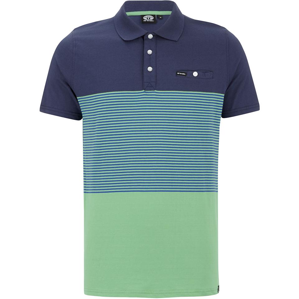 Animal men 39 s engine striped polo shirt bright green for Bright mens dress shirts