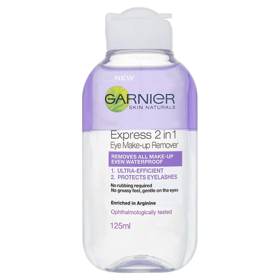 Garnier Skin Naturals 2-in-1 Eye Make-Up Remover (125ml) | Free Shipping | Reviews | Lookfantastic