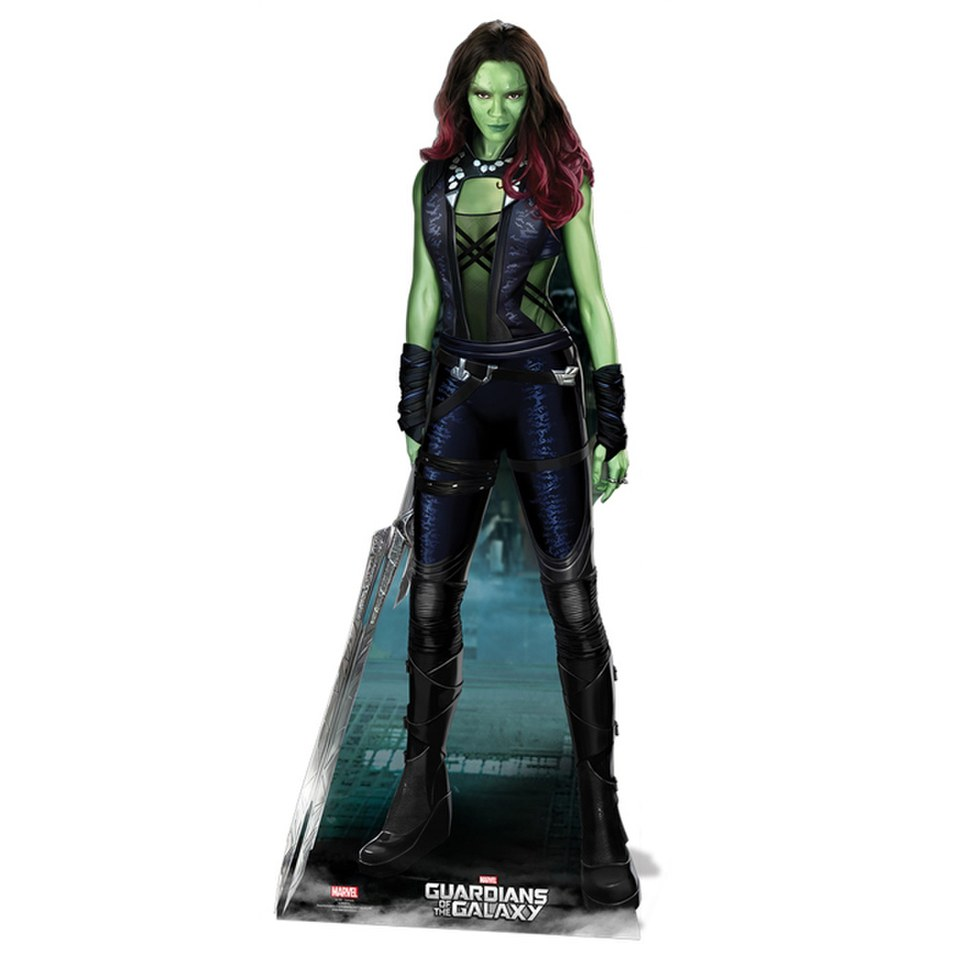 Marvel Guardians Of The Galaxy Gamora Cut Out Merchandise