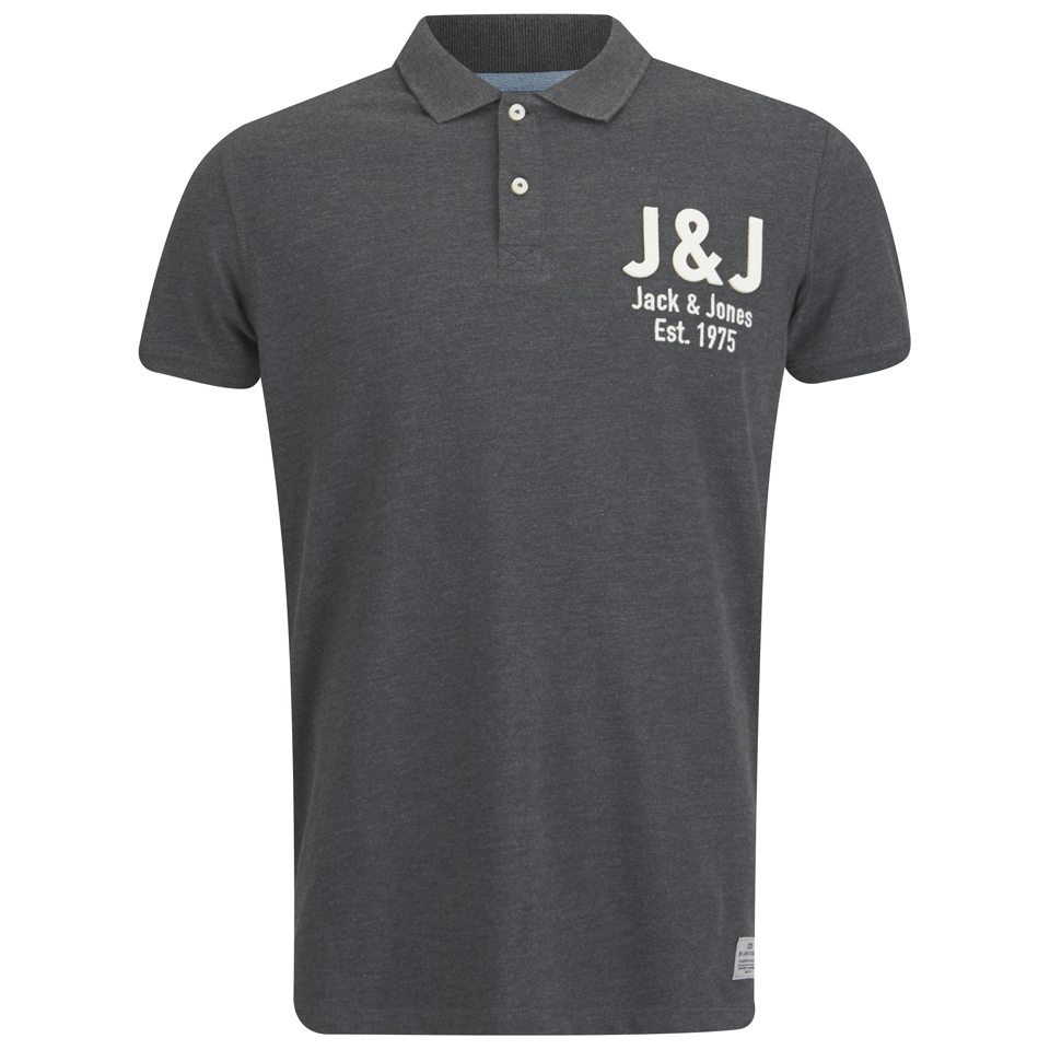 Jack Jones Men 39 S Moss Polo Shirt Dark Grey Melange