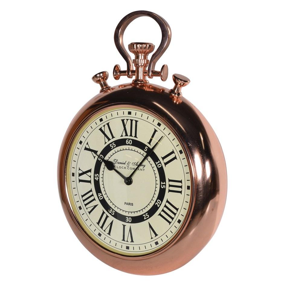 bark blossom shiny copper wall clock free uk delivery. Black Bedroom Furniture Sets. Home Design Ideas