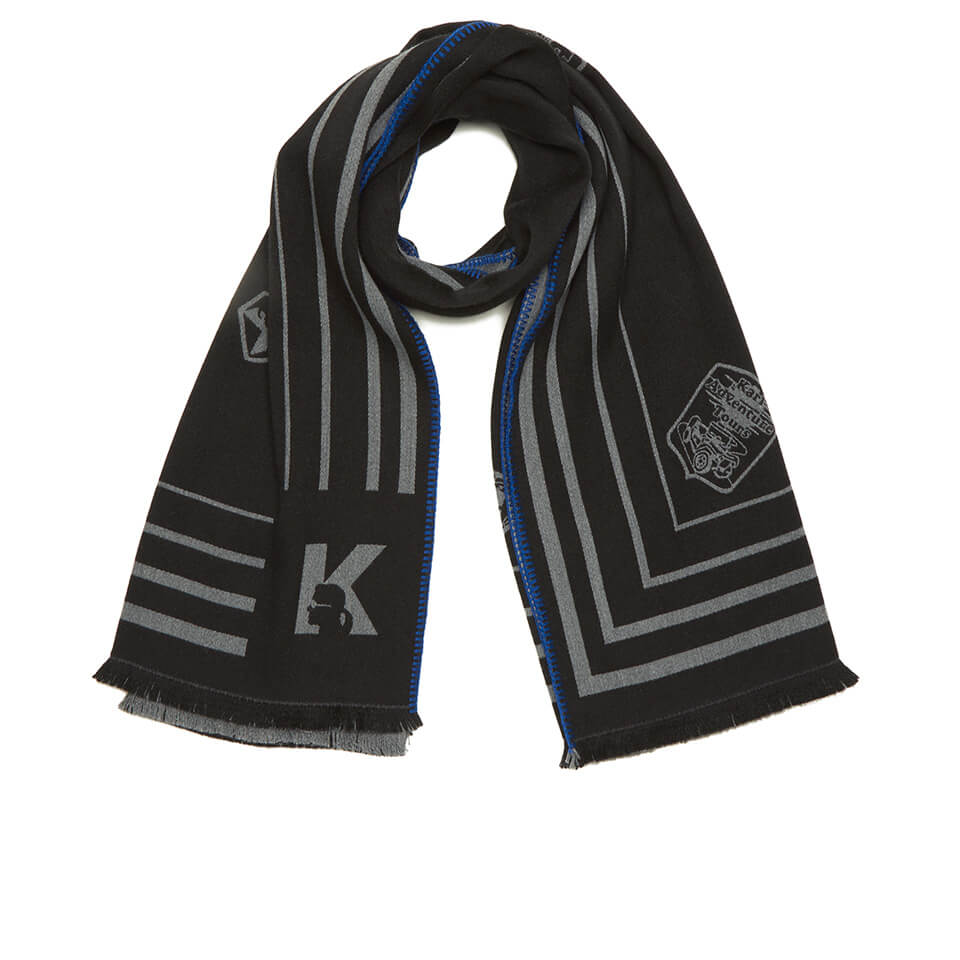 Karl lagerfeld women 39 s travel blanket scarf black free uk delivery over 50 for Travel scarf