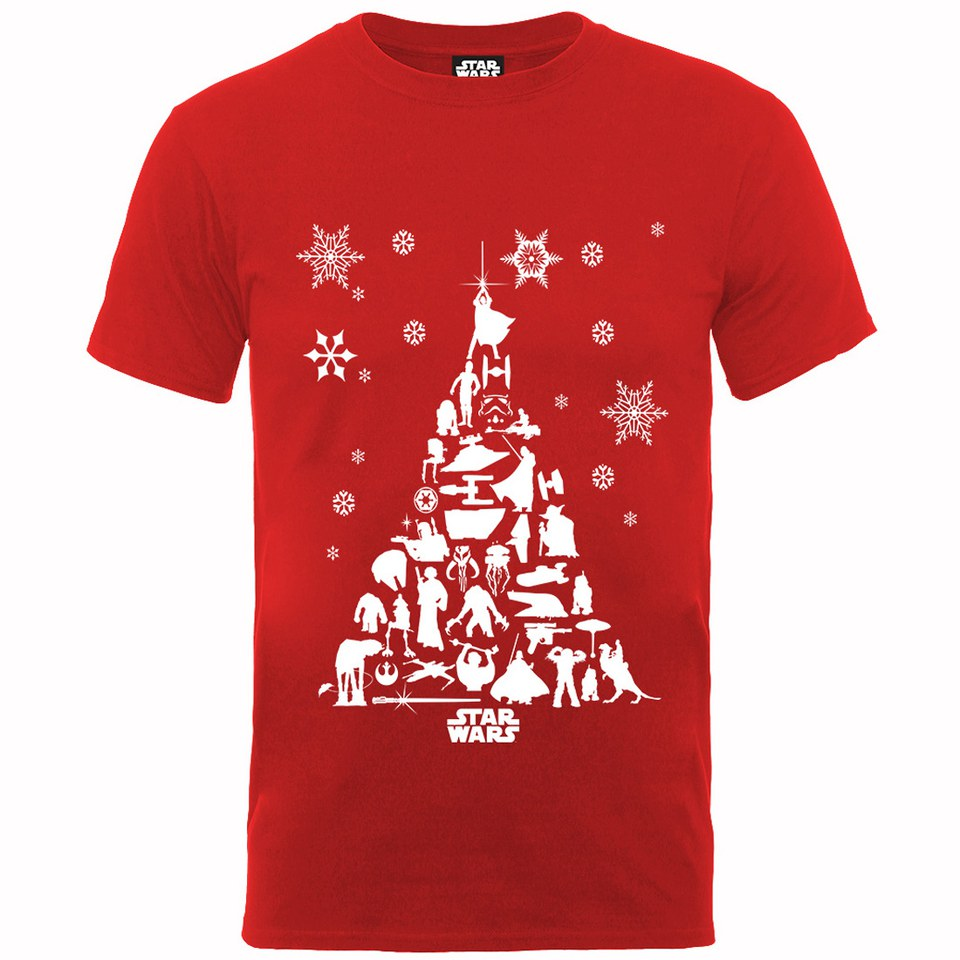 Star Wars Men S Christmas Tree T Shirt Red Merchandise