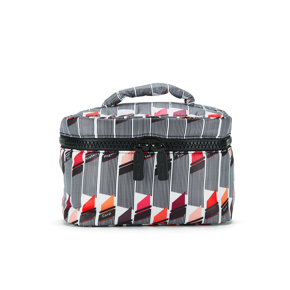 Lulu Guinness Womens Lipstick Print Vanity Case Cosmetic