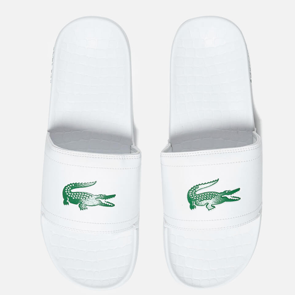 b695527ce712 Lacoste Men s Frasier Slide Sandals - White Green - Free UK Delivery ...