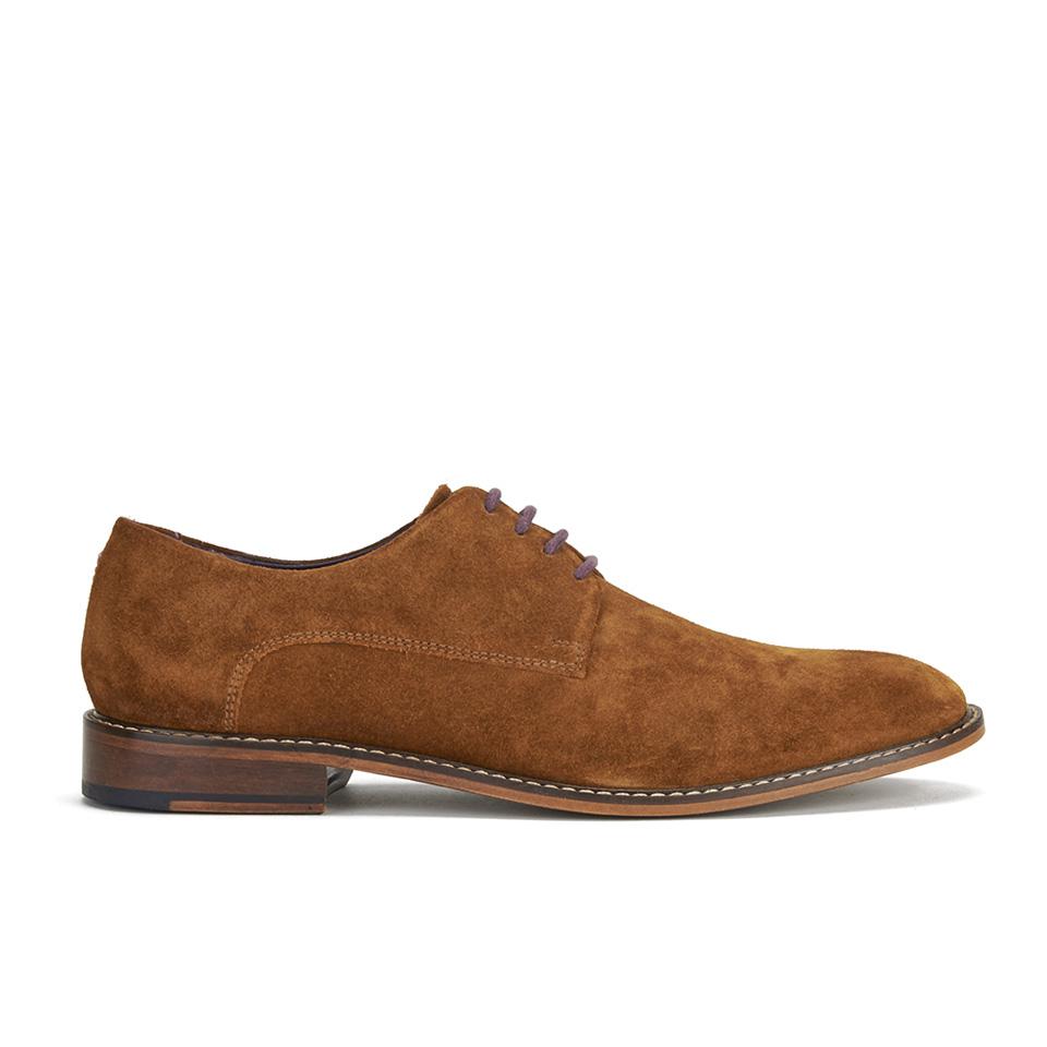 Ted Baker Men S Joehal 2 Suede Derby Shoes Dark Tan