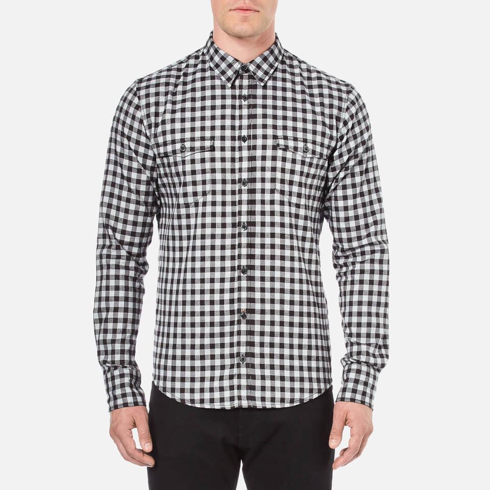 Boss Orange Men 39 S Edoslime Flannel Check Shirt Black