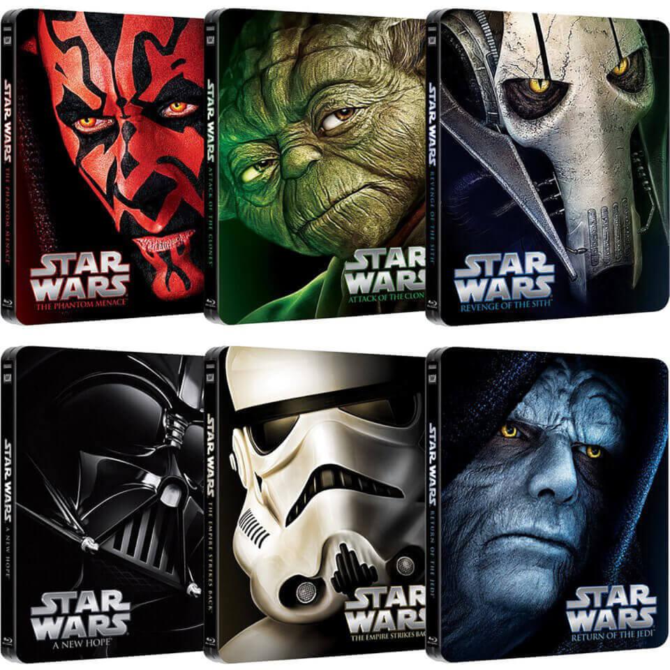 Star Wars Complete Collection Limited Edition Steelbooks Blu Ray Zavvi Uk