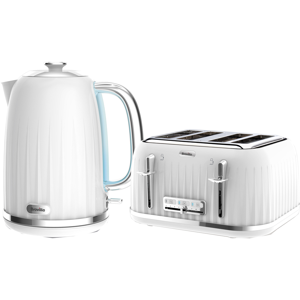 breville impressions collection kettle and toaster bundle white iwoot