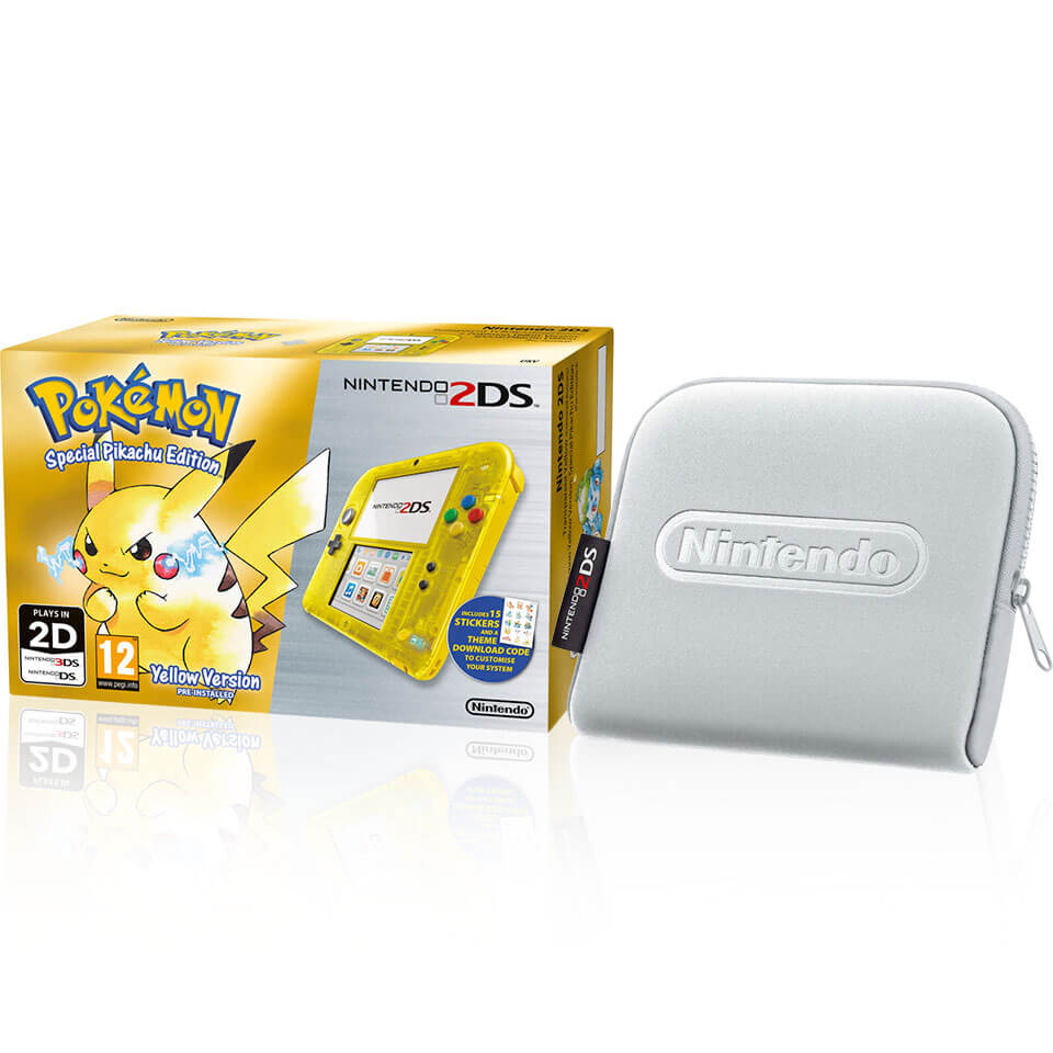 Nintendo 2ds Special Edition Pokmon Yellow Version Silver Case New 3ds Xl Pikachu Official Uk Store