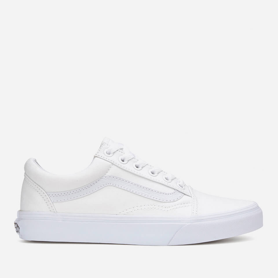 vans old skool trainers true white free uk delivery. Black Bedroom Furniture Sets. Home Design Ideas