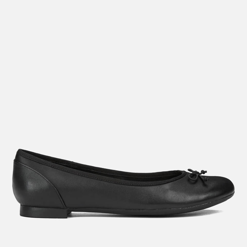 6415d96cddb Clarks Women s Couture Bloom Leather Ballet Flats - Black Womens ...