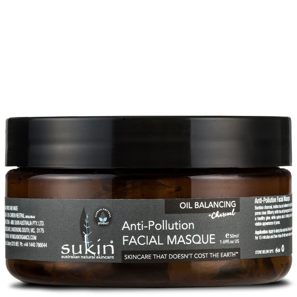 sukin oil balancing charcoal anti pollution facial masque 100 ml gratis lieferservice weltweit. Black Bedroom Furniture Sets. Home Design Ideas