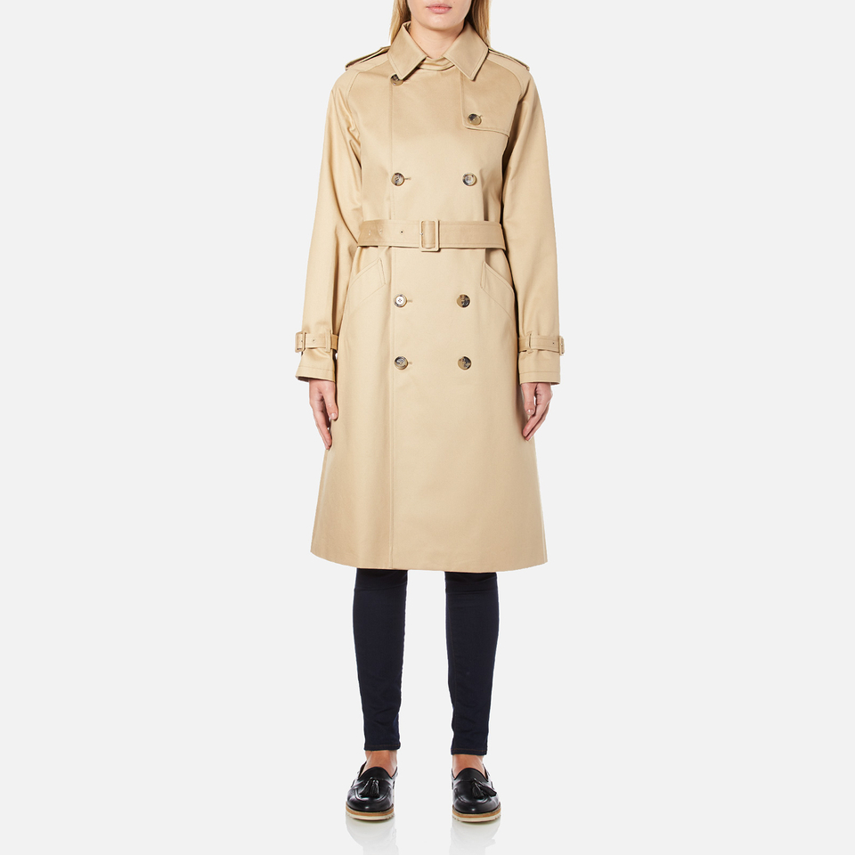 A P C Women S Trench Coat Beige Free Uk Delivery Over 163 50
