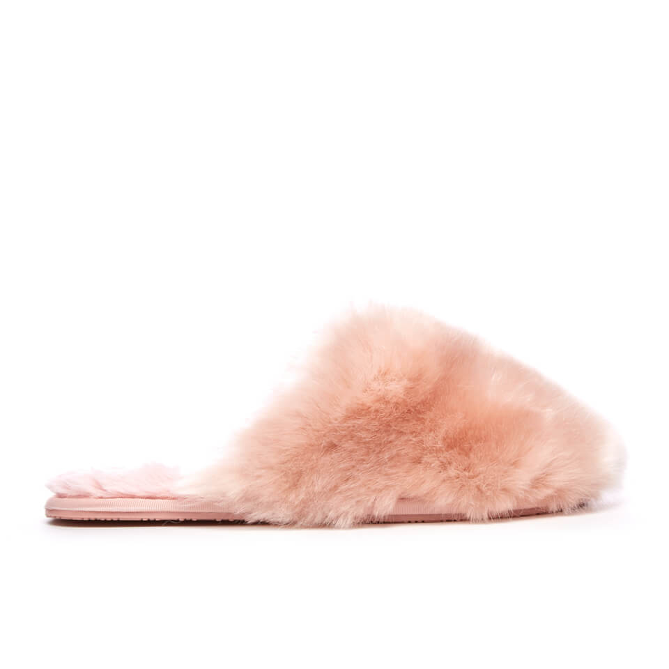db2d5ede01e2 Ted Baker Women s Hawleth Faux Fur Slippers - Light Pink