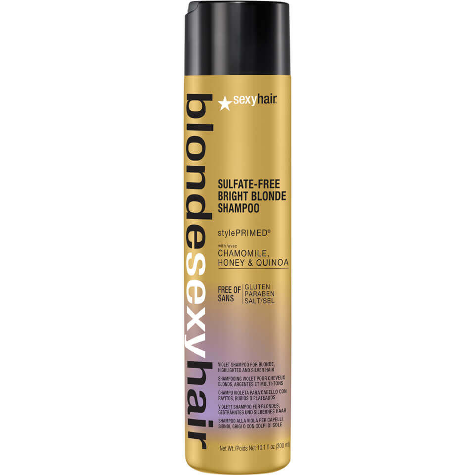 Sexy Hair Blonde Bright Blonde Violet Shampoo 300ml Free