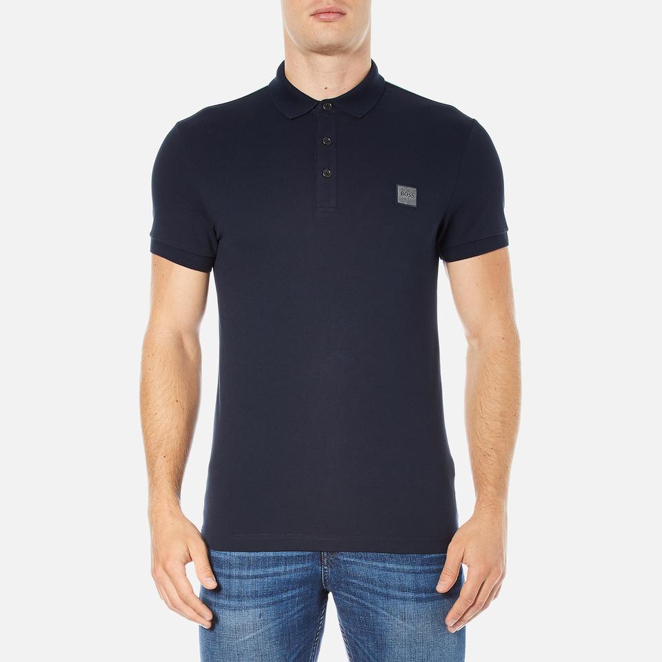 Boss orange men 39 s pavlik polo shirt navy free uk for Orange polo shirt mens