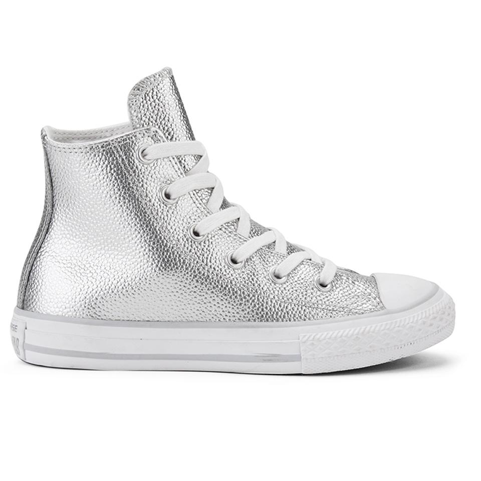 Converse Kids' Chuck Taylor All Star Metallic Leather Hi Top