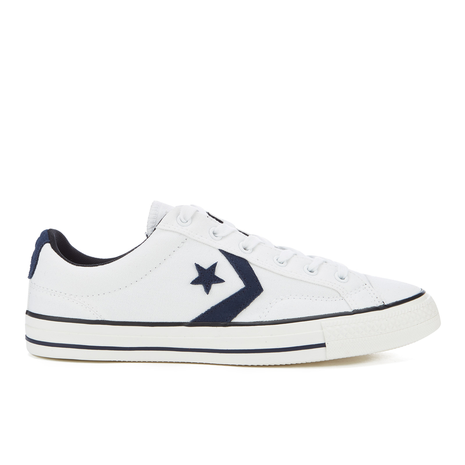 Converse CONS Men s Star Player Canvas Ox Trainers - White Obsidian Black  Mens Footwear  5d037ffa3