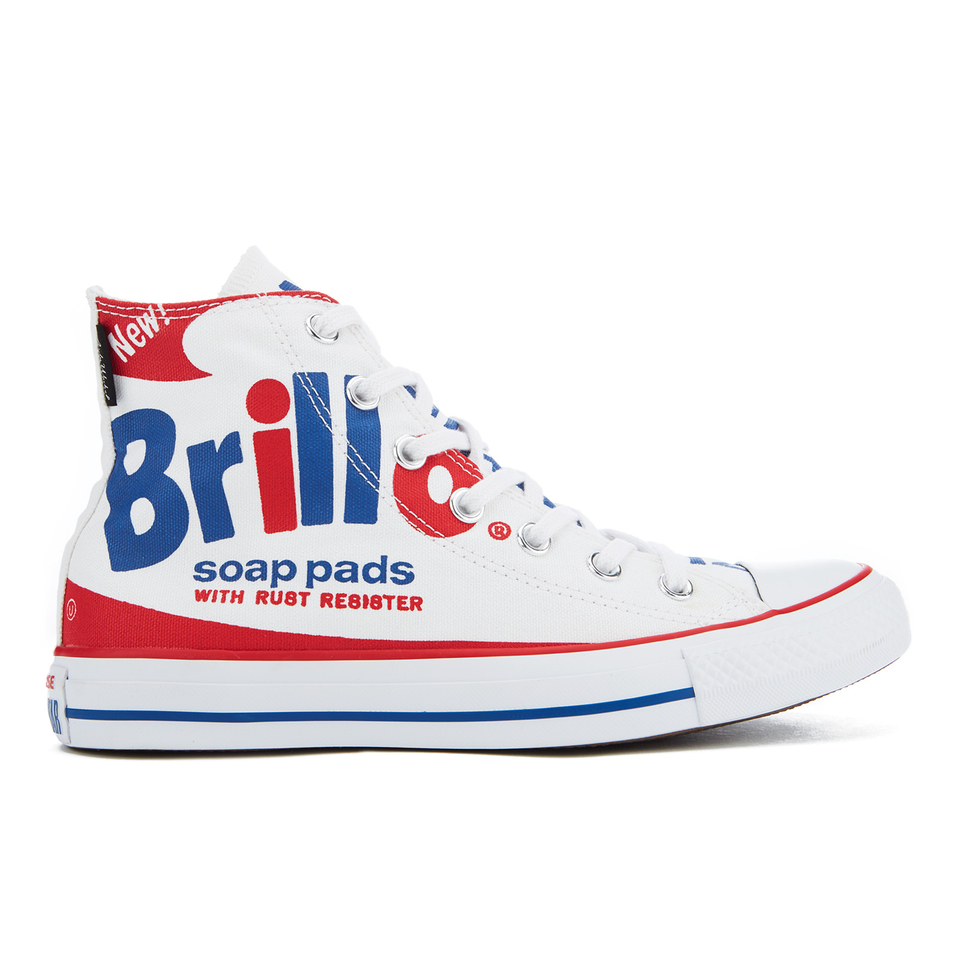 9f213d2b658 Converse Chuck Taylor All Star Warhol Hi-Top Trainers - White Red Blue Mens  Footwear