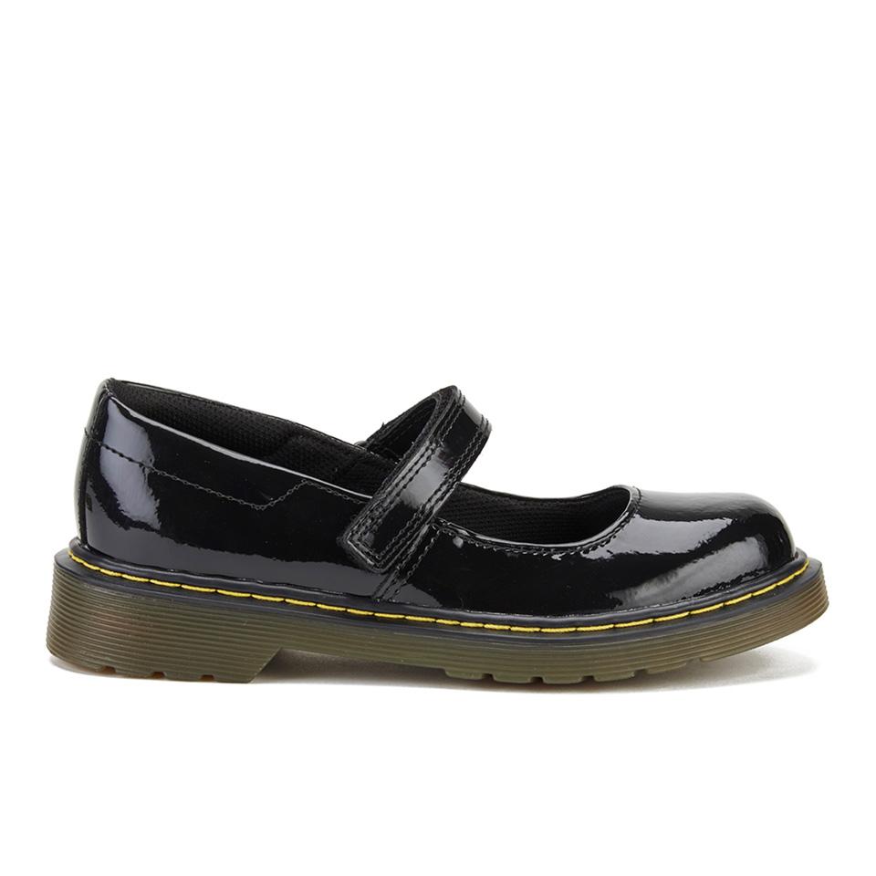 dr martens kids 39 maccy patent lamper mary jane shoes. Black Bedroom Furniture Sets. Home Design Ideas