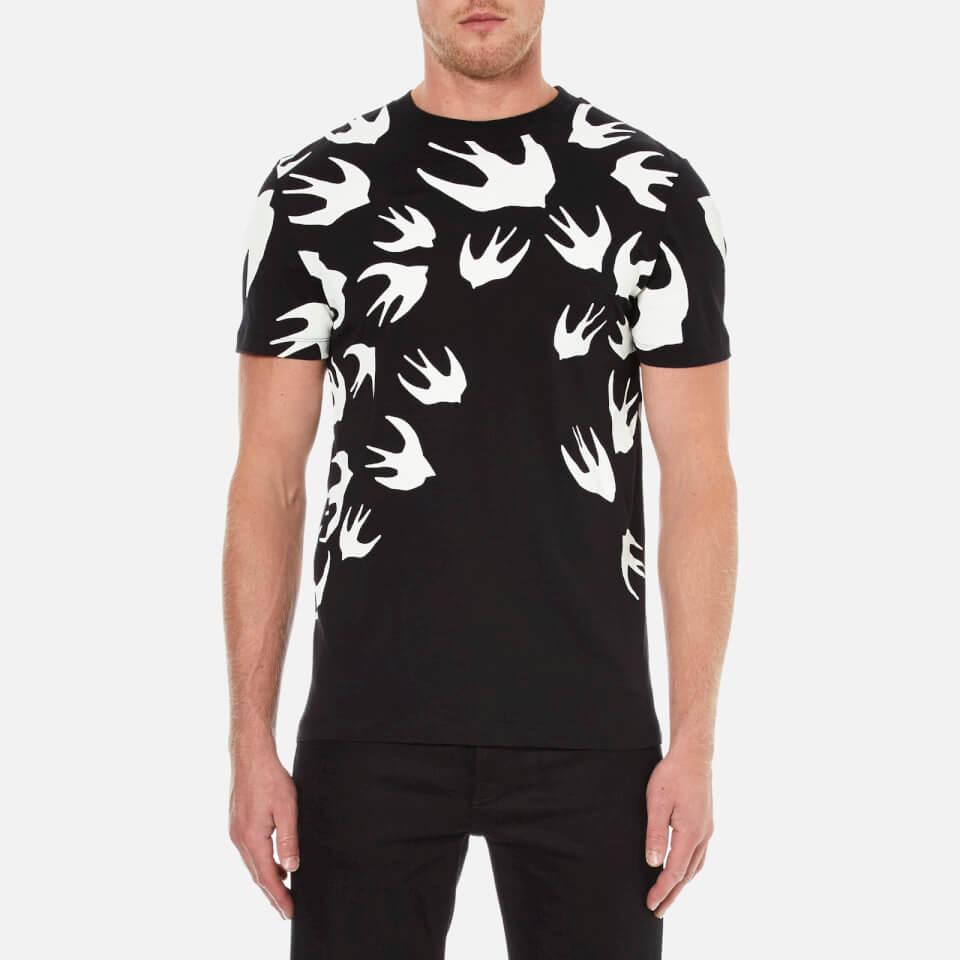 Mcq Alexander Mcqueen Men S Swallow Print Crew T Shirt