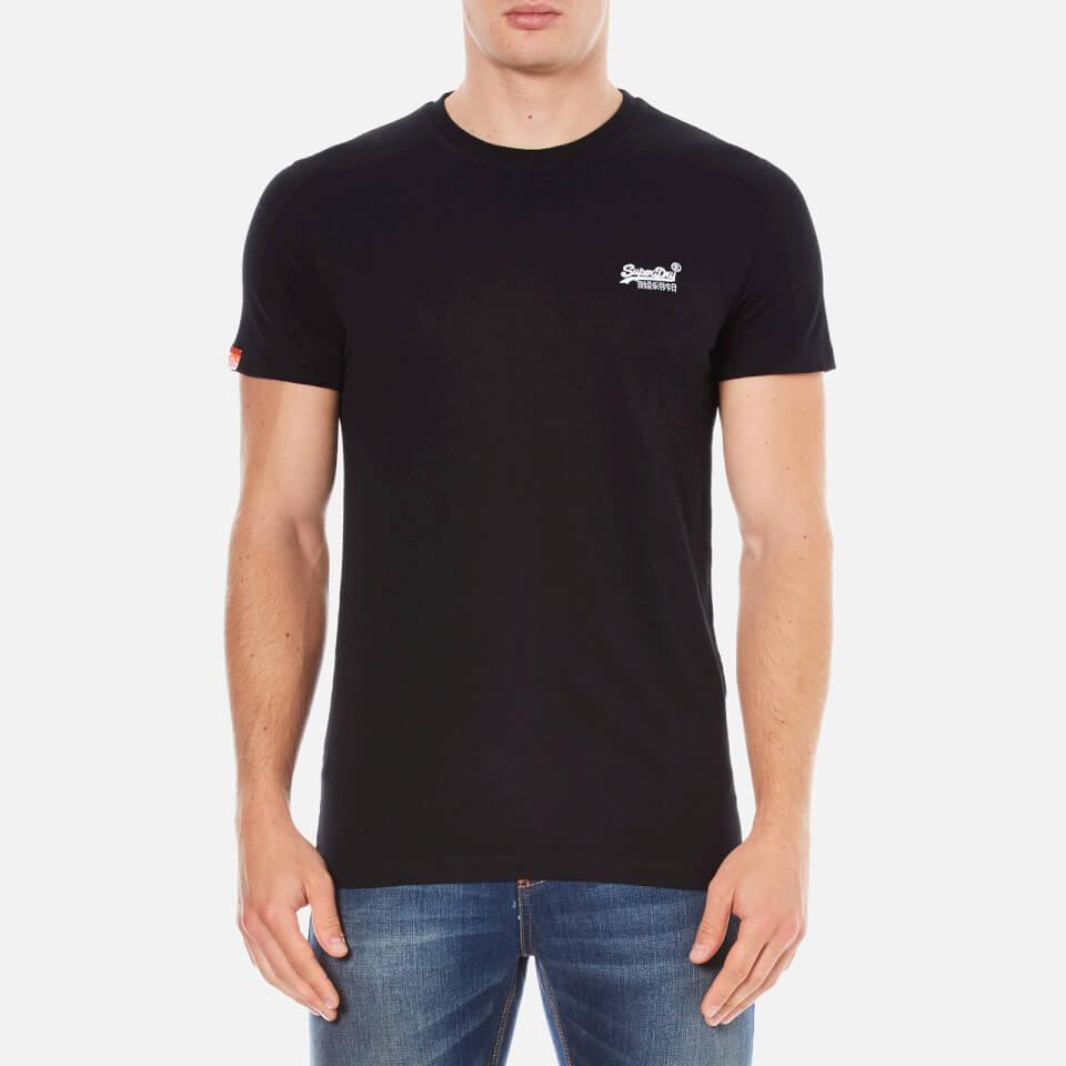 superdry men 39 s orange label vintage embroidered t shirt black. Black Bedroom Furniture Sets. Home Design Ideas