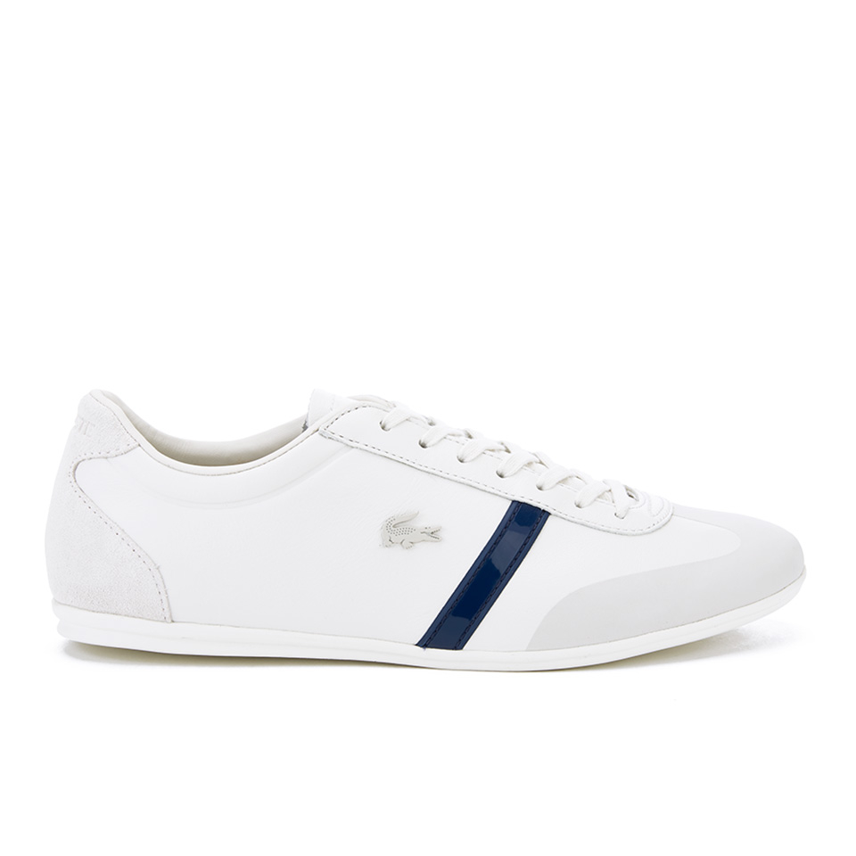 lacoste men 39 s mokara 316 1 leather trainers off white free uk delivery over 50. Black Bedroom Furniture Sets. Home Design Ideas
