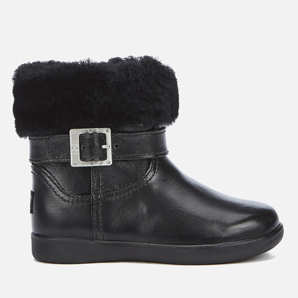 UGG Toddlers  Gemma Patent Leather Boots - Black Junior Clothing ... 0c80c0713