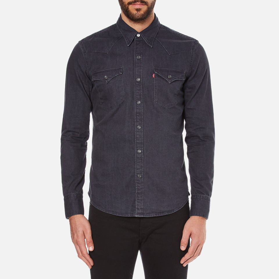 Levi 39 S Men 39 S Barstow Western Shirt Inky Blue Mens