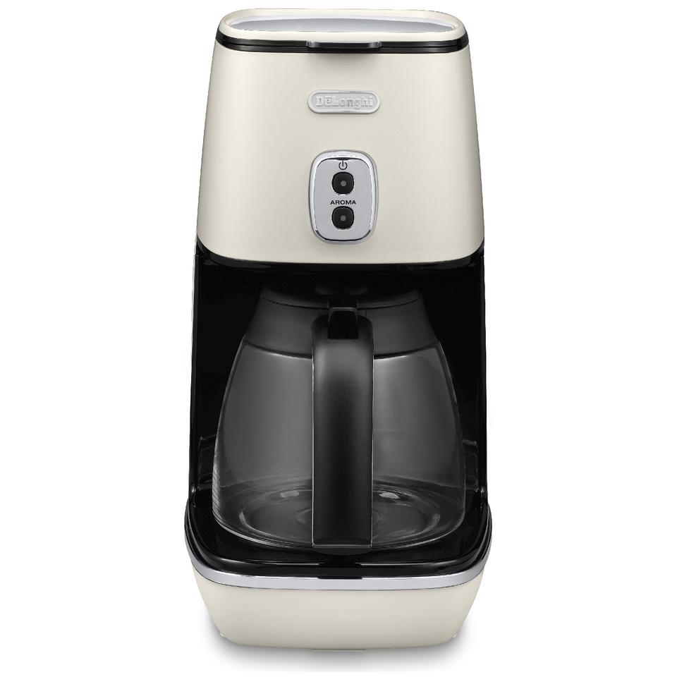 Delonghi Filter Coffee Maker Icm2b : De Longhi ICMI211.W Distinta Filter Coffee Maker - Matt White Homeware TheHut.com