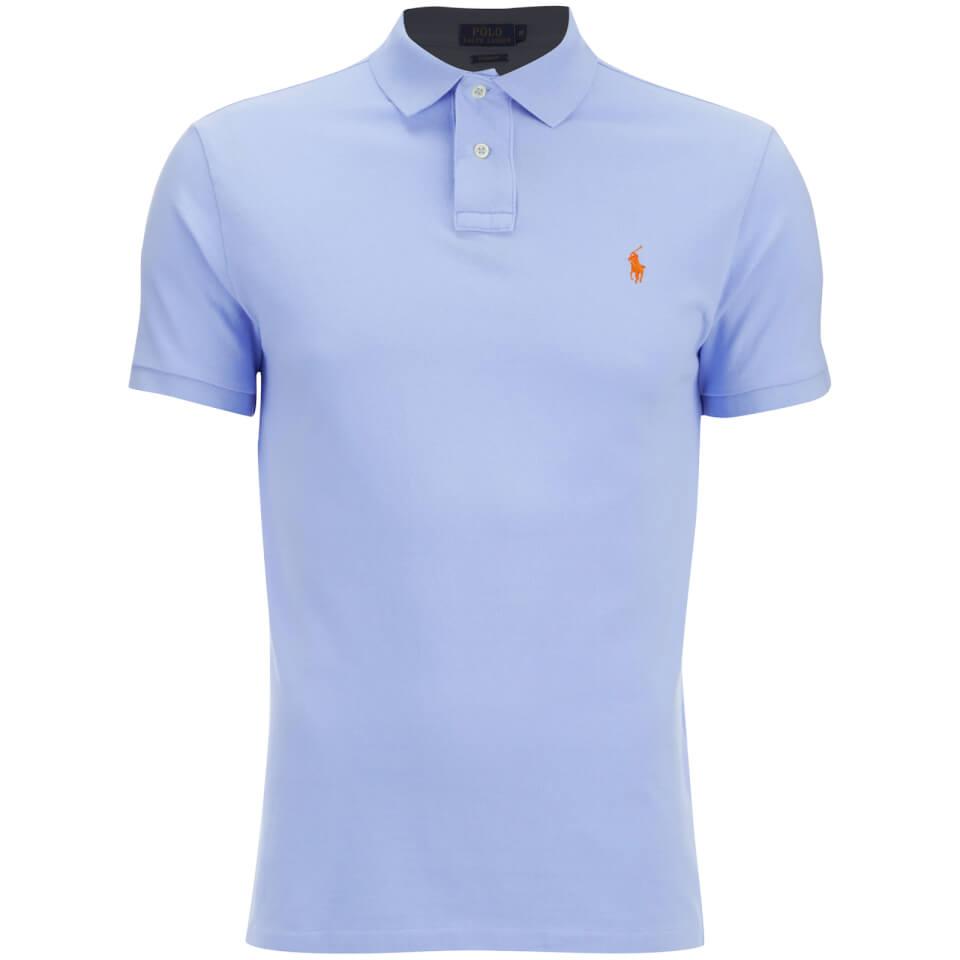 Polo ralph lauren men 39 s custom fit polo shirt pebble for Staples custom t shirts