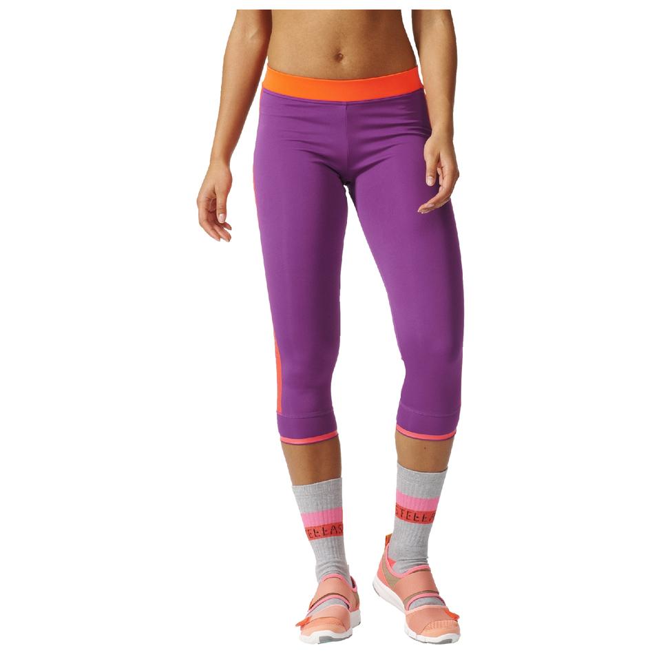adidas women 39 s stella sport 3 4 training tights purple probikekit uk. Black Bedroom Furniture Sets. Home Design Ideas