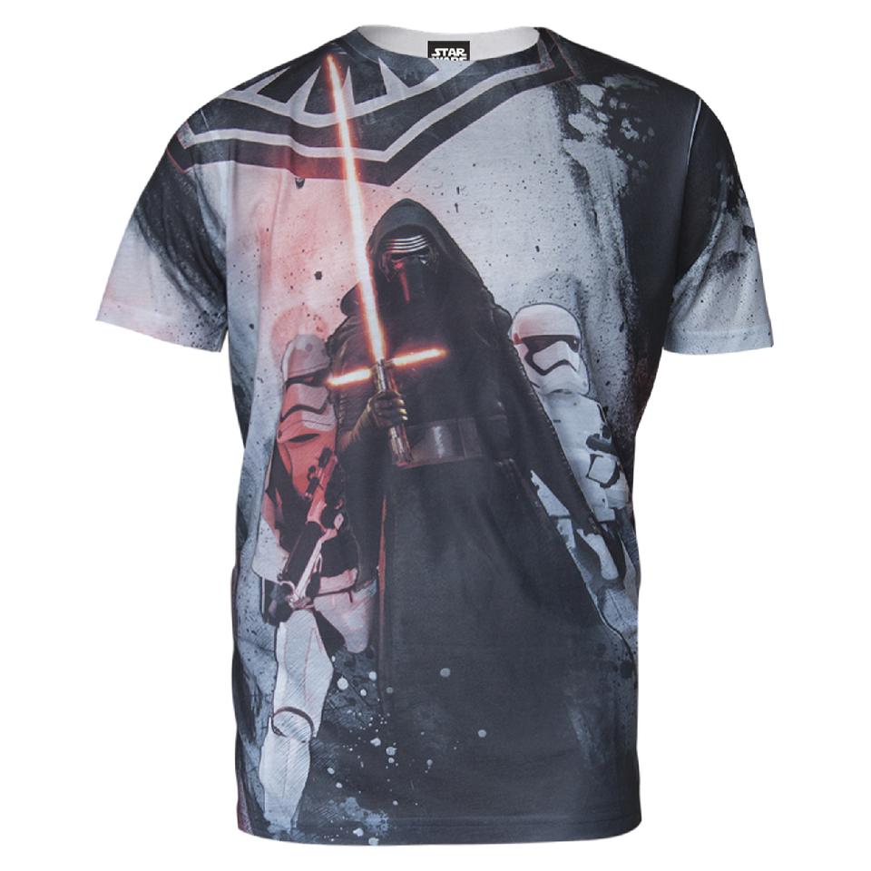 Star Wars Men S Kylo Ren T Shirt Grey Merchandise Zavvi