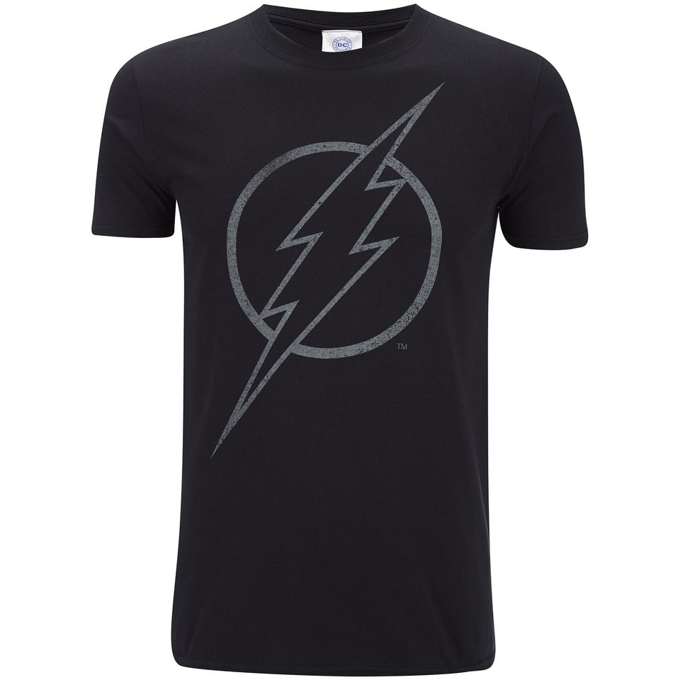 Dc Comics Men S The Flash Line Logo T Shirt Black Pop