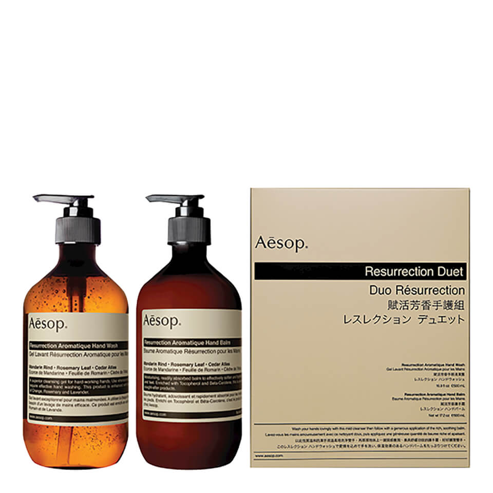 Aesop Resurrection Hand Cleanser And Balm Duet Buy