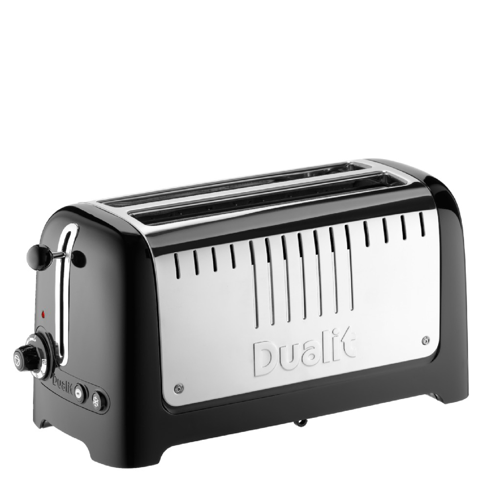 Dualit Lite 4 Slice Long Slot Toaster Metallic Black