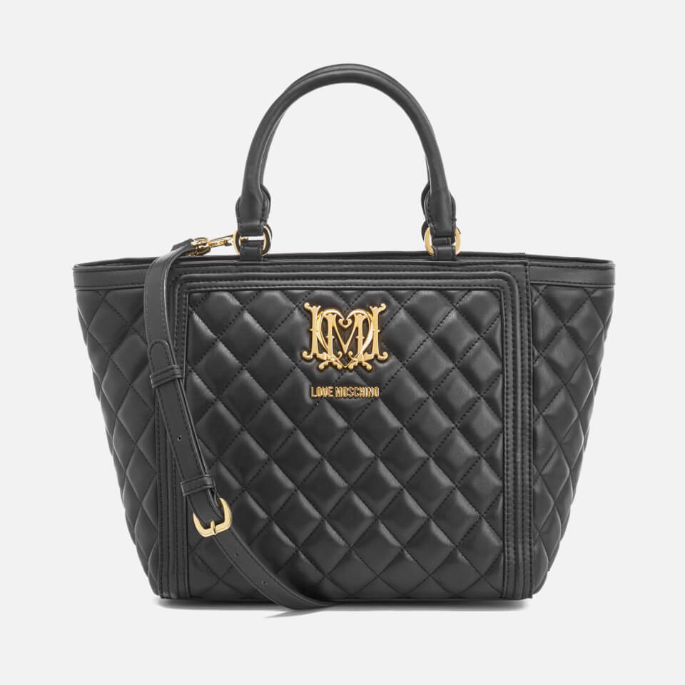Love Moschino Women S Quilted Tote Bag Black