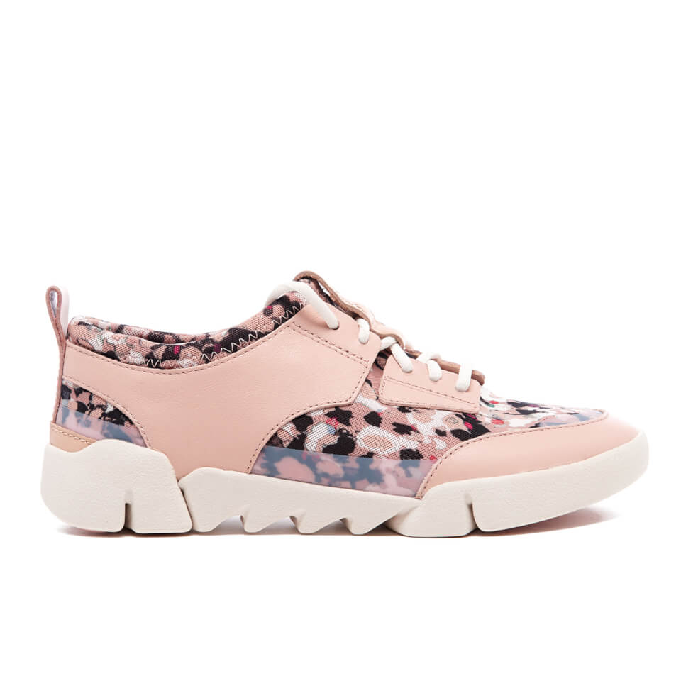 Clarks Women S Tri Soul Runner Trainers Floral Combi