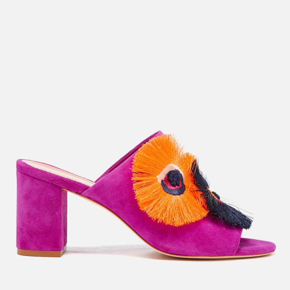 8db96091eacc4 Loeffler Randall Women s Clo Floral Embroidered Suede Heeled Sandals -  Azalea - Free UK Delivery over £50