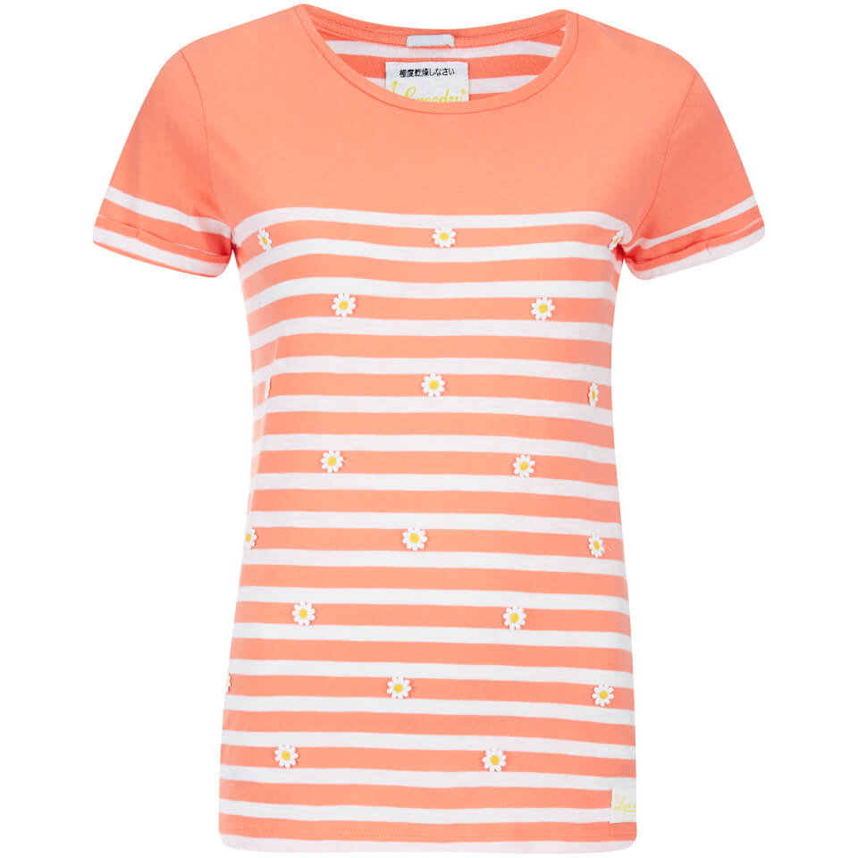 Superdry women 39 s daisy breton t shirt hot coral womens for Coral t shirt womens