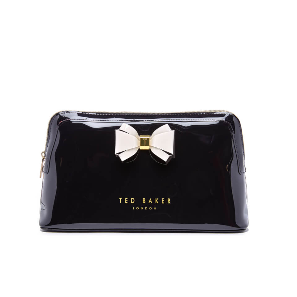 Ted Baker Womens Abbie Curved Bow Large Wash Bag Black